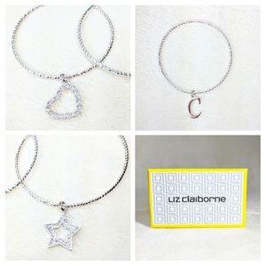 "🛍️NWT Initial ""C""Boxed Liz Claiborne Bracelet Set"